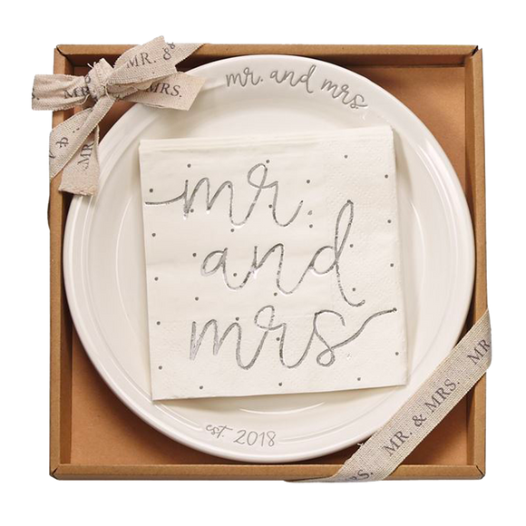 Mr. & Mrs. Dessert Set