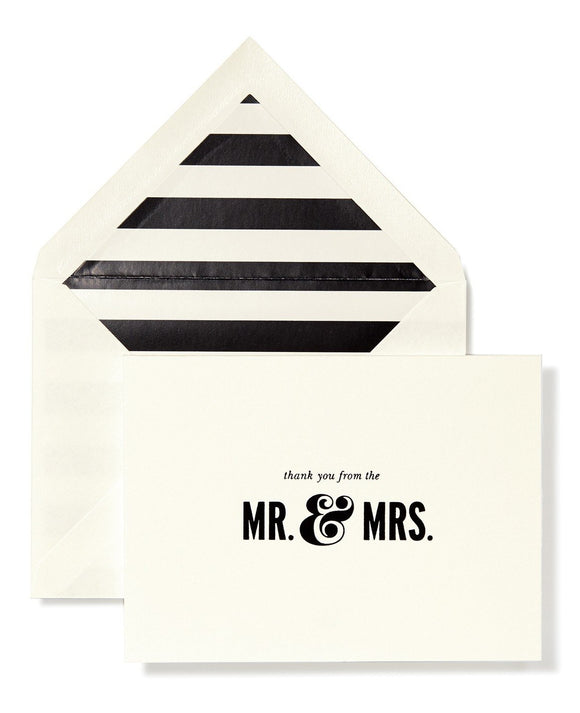 thank you from the mr. & mrs. note cards
