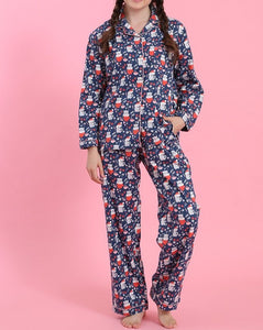 Winter Cats Flannel Pajamas