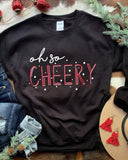 Oh So Cheery Black Sweatshirt