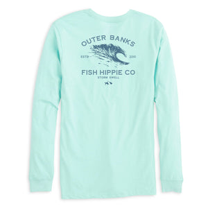 Storm Swell Long Sleeve T-Shirt in Heather Ice