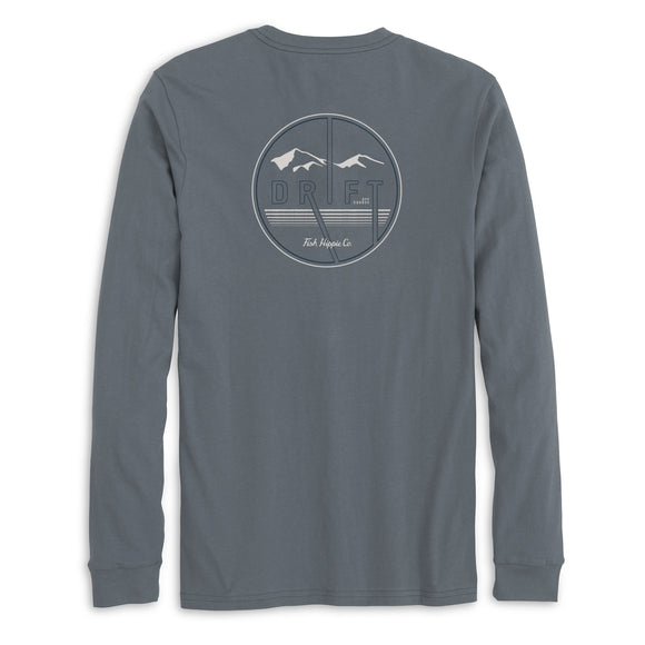 Drift Up Long Sleeve T-Shirt in Graphite