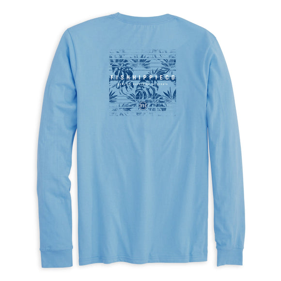 Shaker Long Sleeve T-Shirt in Azure