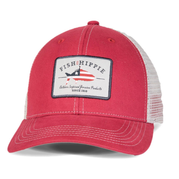 Patriotic Trucker Hat in Red