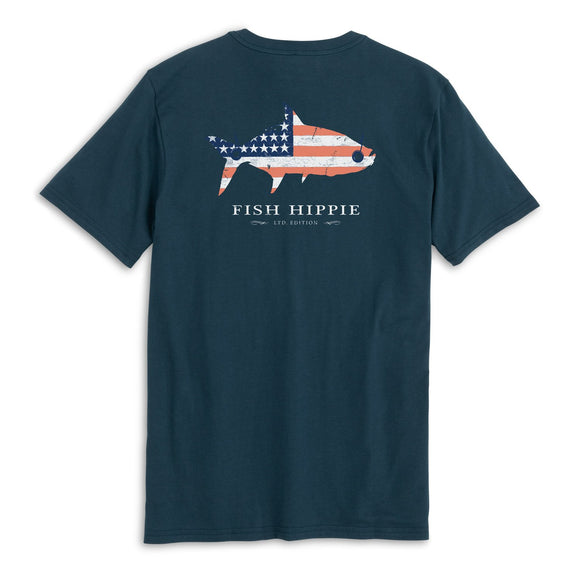 Patriotic Tarpon T-Shirt in Navy