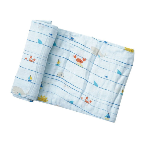 Swaddle Blanket in Sea Life