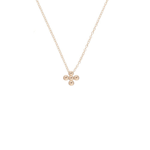 "16"" Halo Gold Charm Necklace"