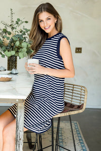 Newport Striped Knit Dress