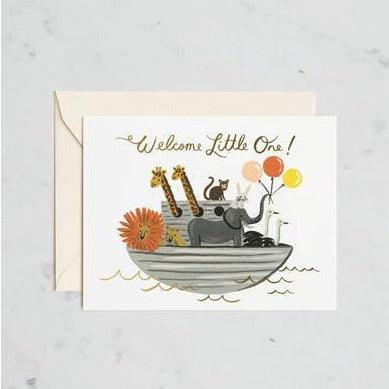 Welcome Little One! Animals Card