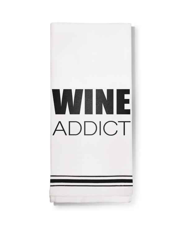 Wine Addict Dish Towel