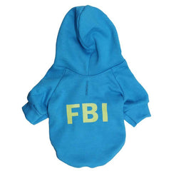 Cool Dog Hoodie FBI Glow In Dark
