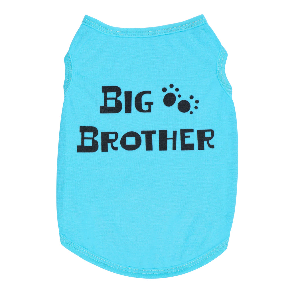 Big Brother Dog Shirt | Announcement Dog Shirt | Pet Shirt Blue Color