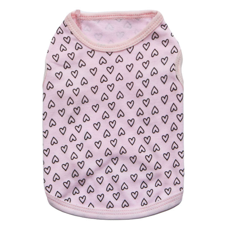 Pink xs dog clothes chihuahua hearts
