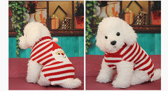 Christmas Dog Snowman Pattern Sweater Knitted