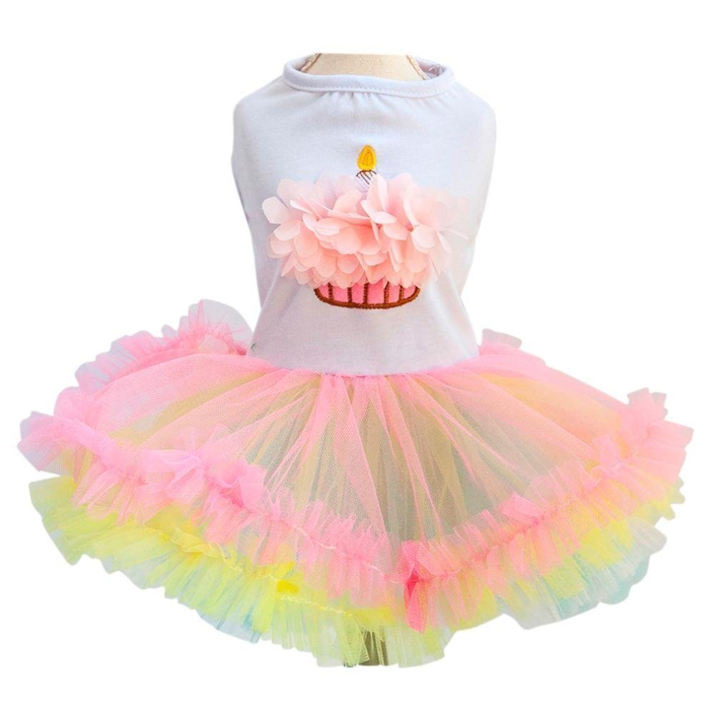 Birthday Cake Dog Dress Party Outfit