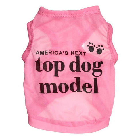 America's Next Top Dog Model Dog Shirt Pet Vest Pink