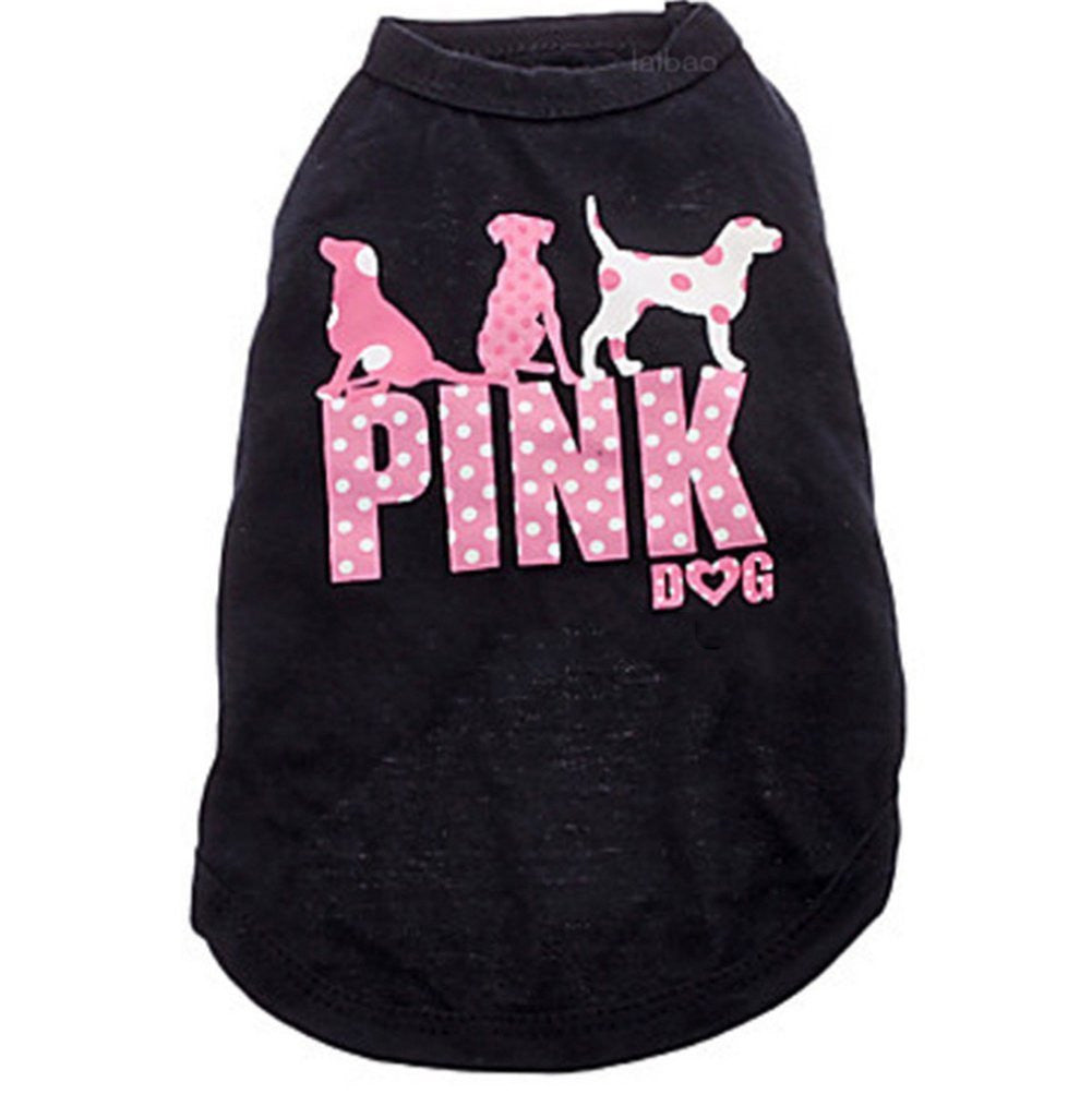 "Ollypet Cute Dog Shirt ""Pink"" Vest Cotton For Small Pet"