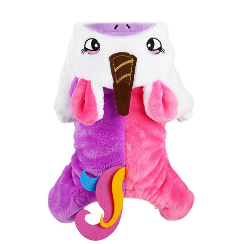 Unicorn Dog Costume Puppy Cat Halloween Clothes