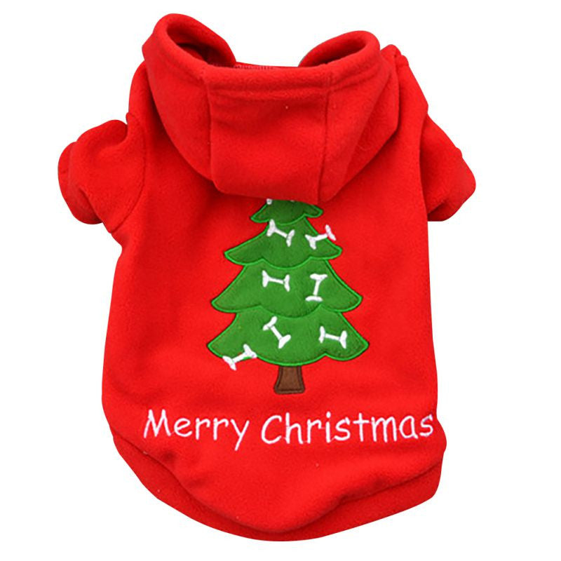 Dog Christmas Hoodie Red