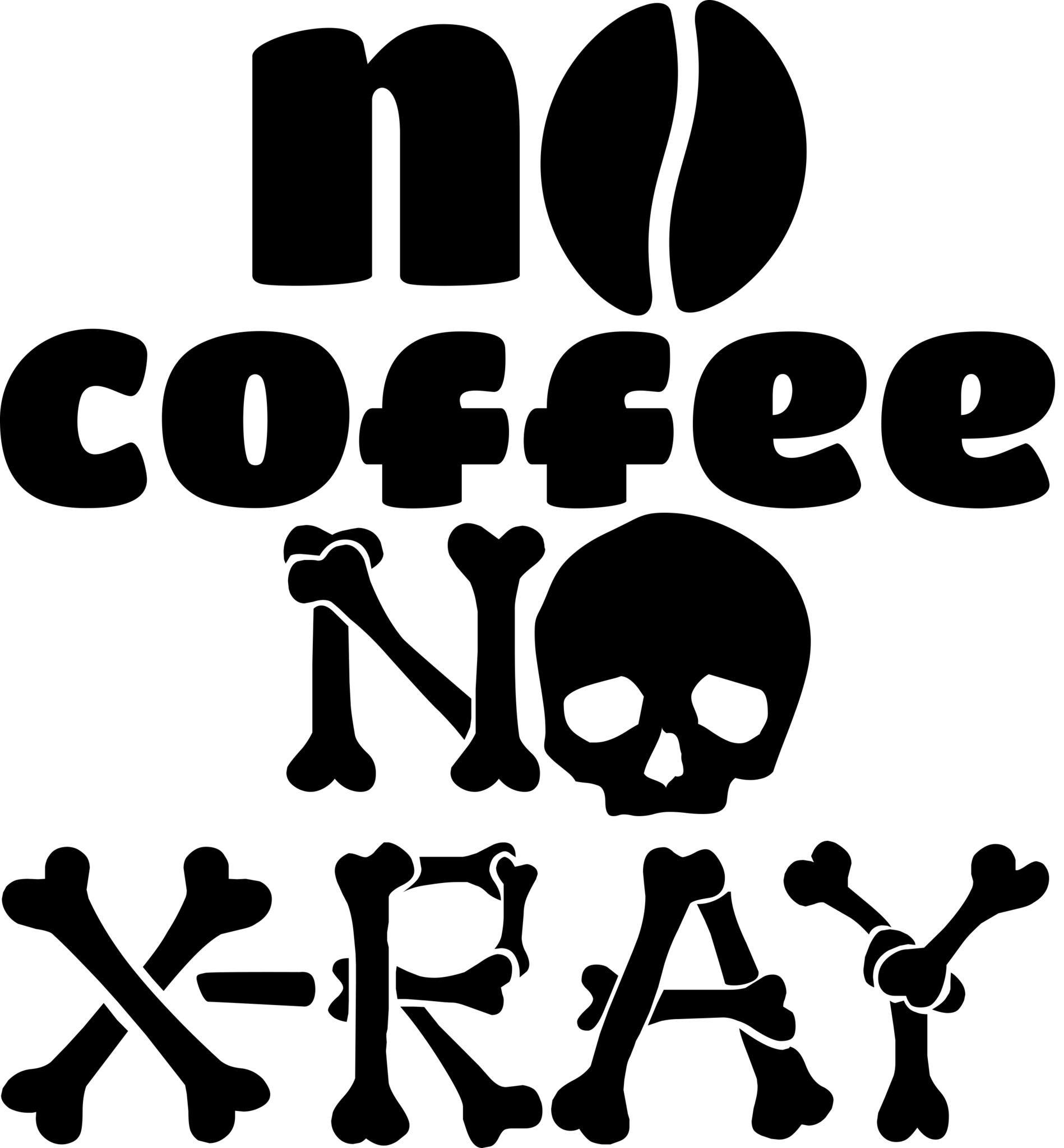 Radiology decals stickers decalcustom no coffee no x ray decal buycottarizona Image collections
