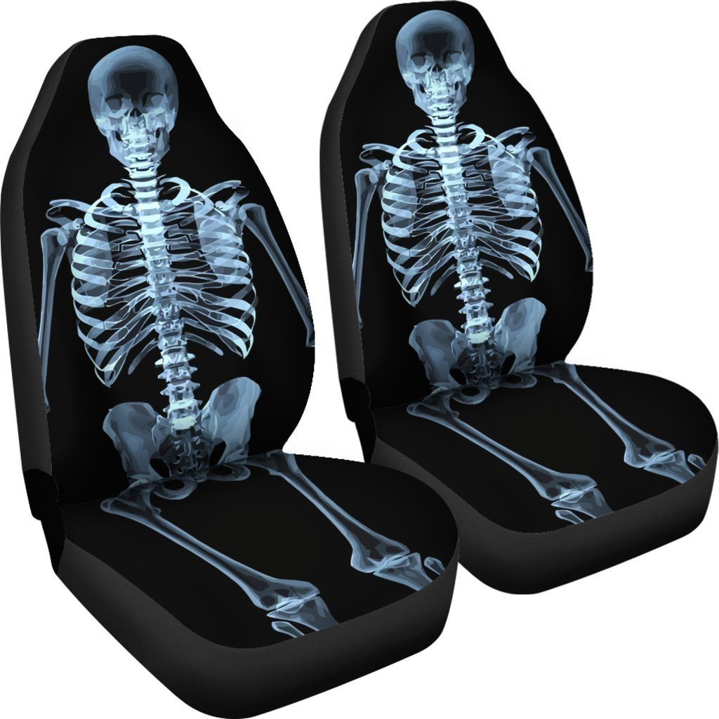 Skeleton Car Seat Covers Set
