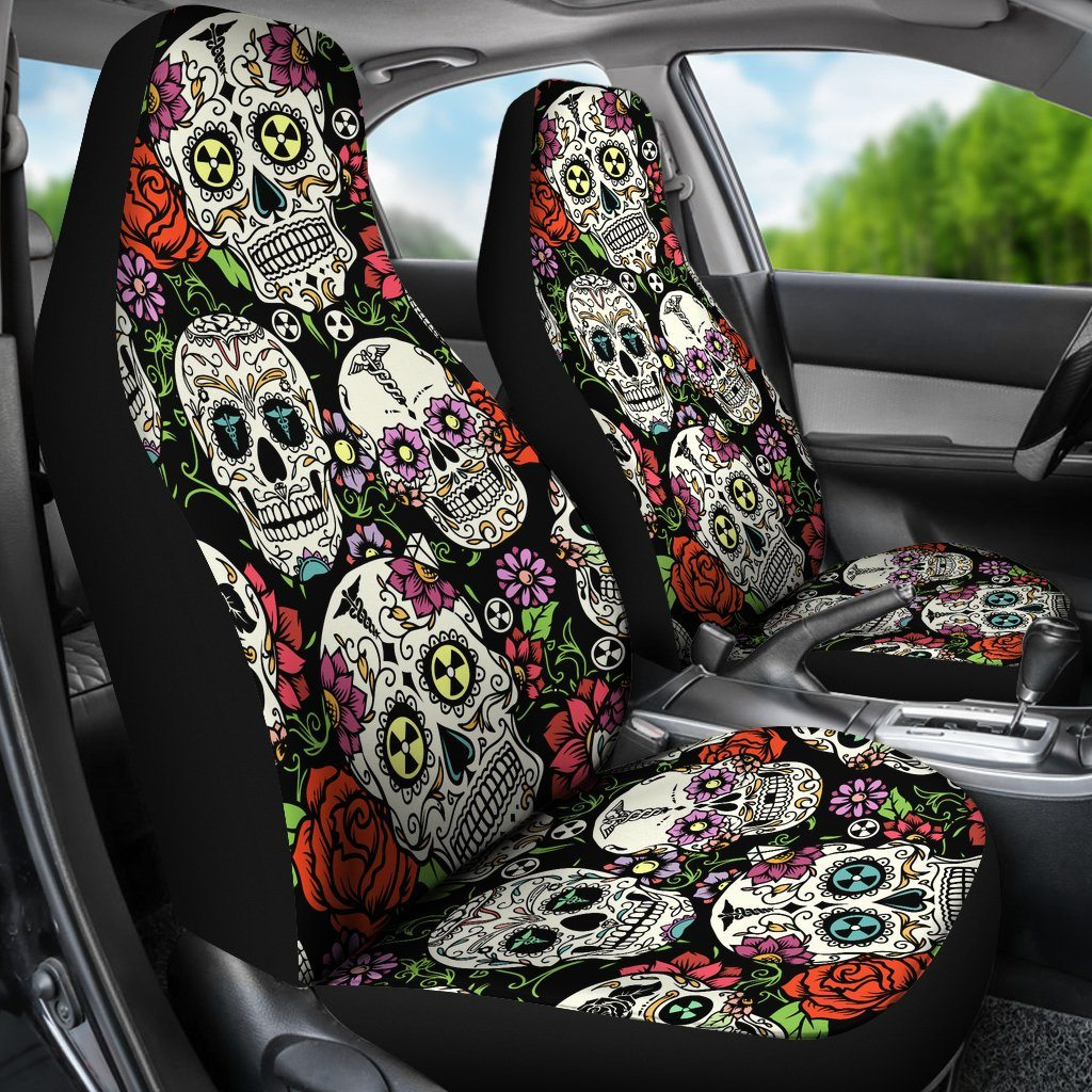 Sugar Skulls Car Seat Covers Set