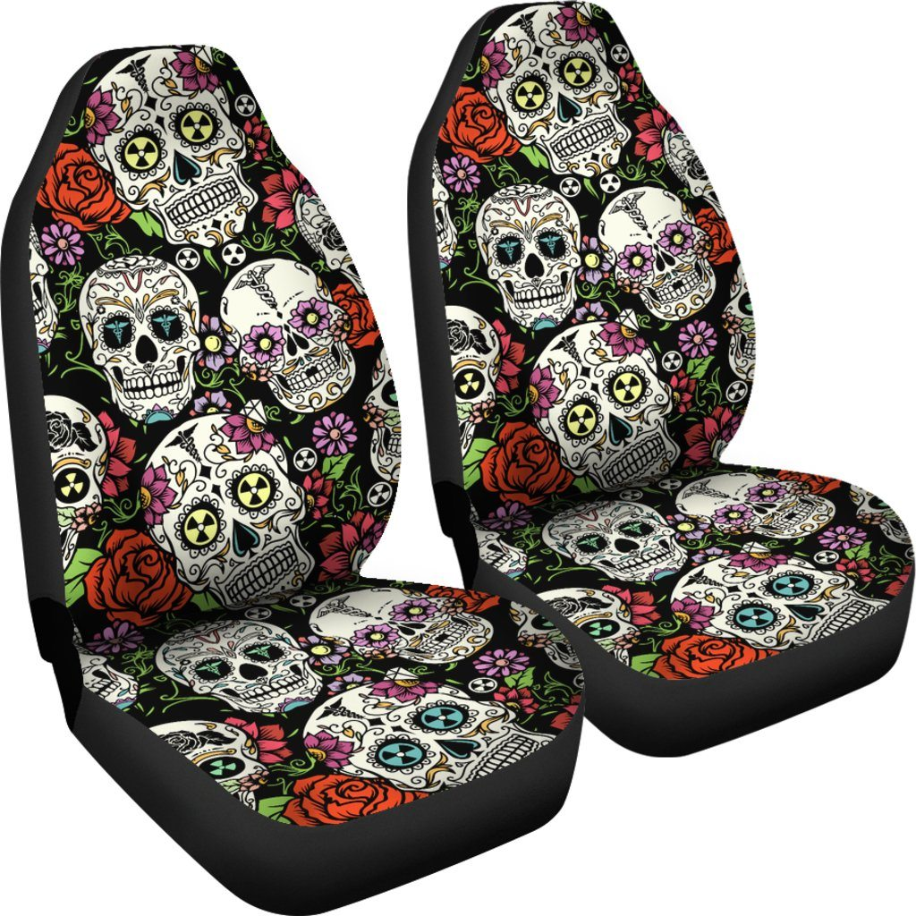 skull car seat covers cover dudes. Black Bedroom Furniture Sets. Home Design Ideas