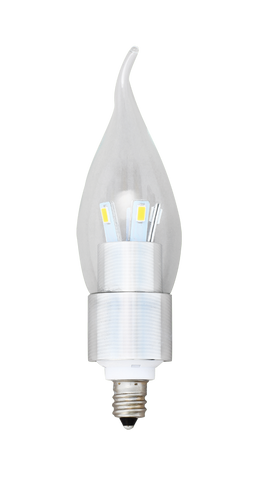 Flame Tip Bulb 5W Silver - END OF LINE SALE! HALF PRICE! WHILE STOCKS LAST!