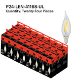 P24-LEN-41168-UL Filament Candle Flame Tip 4W 2200K
