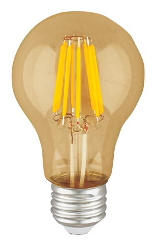 A19 LED Filament Amber 6W - END OF LINE SALE! HALF PRICE! WHILE STOCKS LAST!