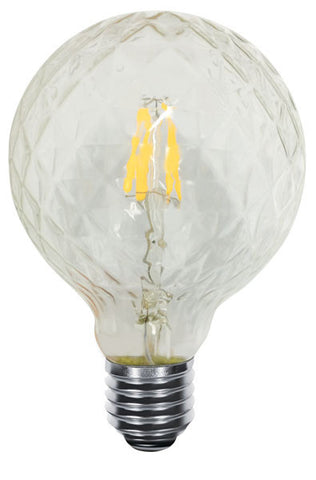 Faceted 5 Inch Globe 95 5W - END OF LINE SALE! HALF PRICE! WHILE STOCKS LAST!