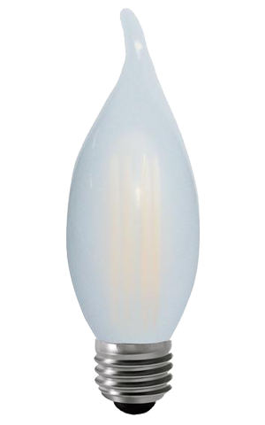 55073 Candle Flame Tip Frosted 4W - PRICE REDUCED BY 50%! #bfcm SALE! MUST CLEAR WAREHOUSE!