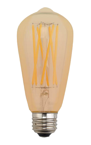 ST-64 Extra Long Filament Amber 7.5W - END OF LINE SALE! HALF PRICE! WHILE STOCKS LAST!