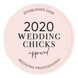 This is an image of the Wedding Chicks Approved Vendor logo.