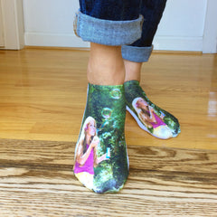 This is an image of custom printed photo socks.