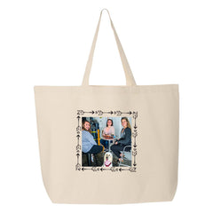 This is an image of Custom Printed Arrows Photo Frame Tote Bag.