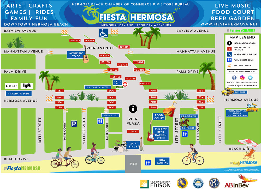 This is an image of the Fiesta Hermosa map.