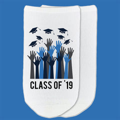 This is an image of Class of '19 graduation socks.