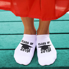 This is an image of no show graduation socks for the class of 2019.