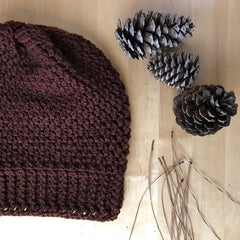 This is an image of a maroon beanie.
