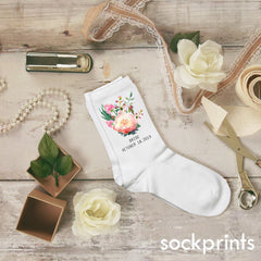 This is an image of Floral Succulent Bride socks.