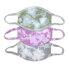 This is an image of 3 Tie Dye Face Masks for Women in Fashion Colors.