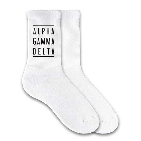 Alpha Gamma Delta Sorority Double Lines