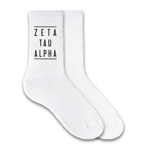 Zeta Tau Alpha Sorority Double Lines