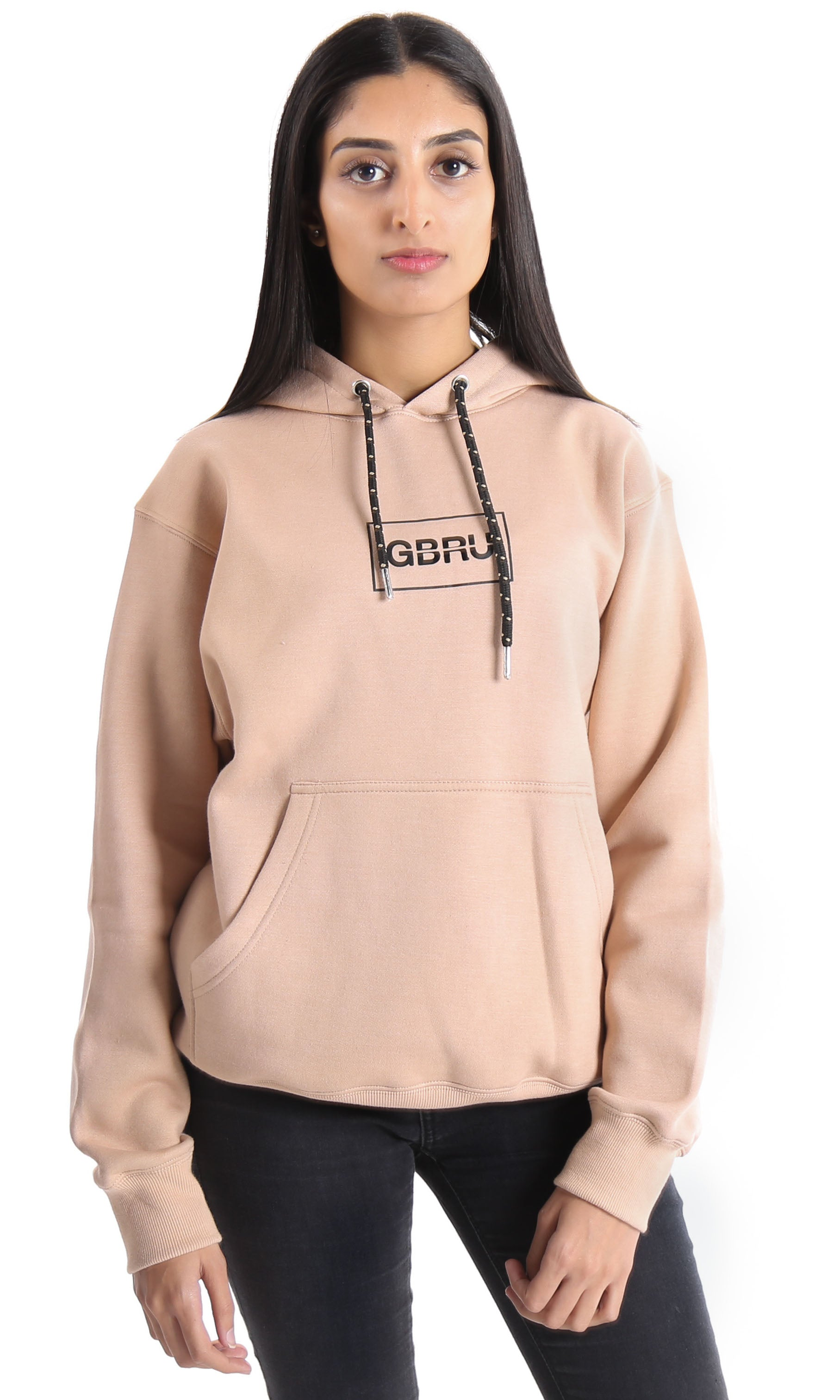 GABRU W19 - Printed Gabru Hooded Sweat - Chai