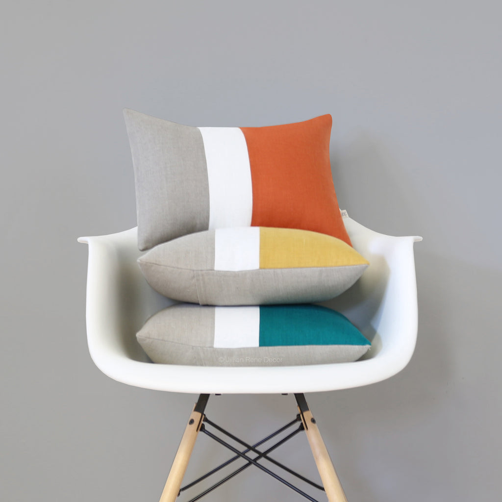 Colorblock Pillows