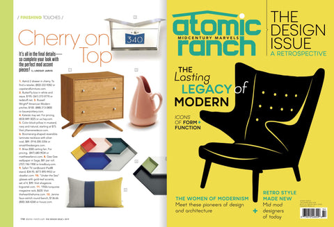 Jillian Rene Decor AS SEEN in Atomic Ranch Magazine, The Design Issue