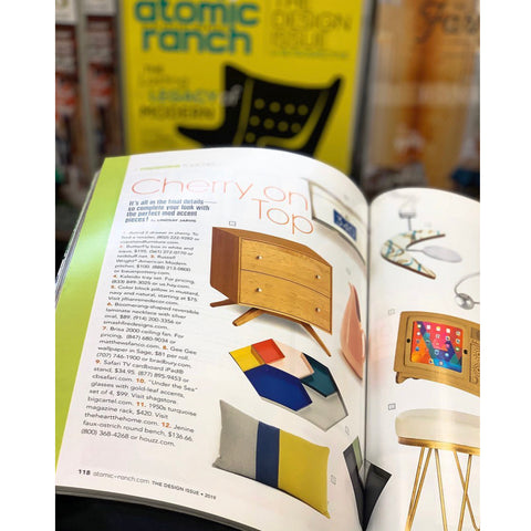 Jillian Rene Decor Colorblock Pillow FEATURED in Atomic Ranch Magazine