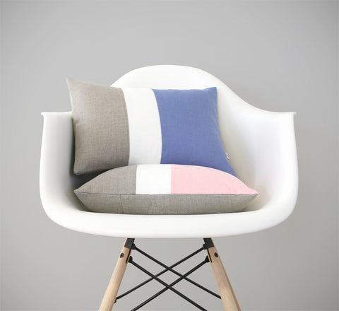 Rose Quartz + Serenity Colorblock Pillows by JILLIAN RENE DECOR