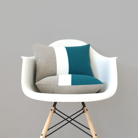 Teal Colorblock Pillows by Jillian Rene Decor